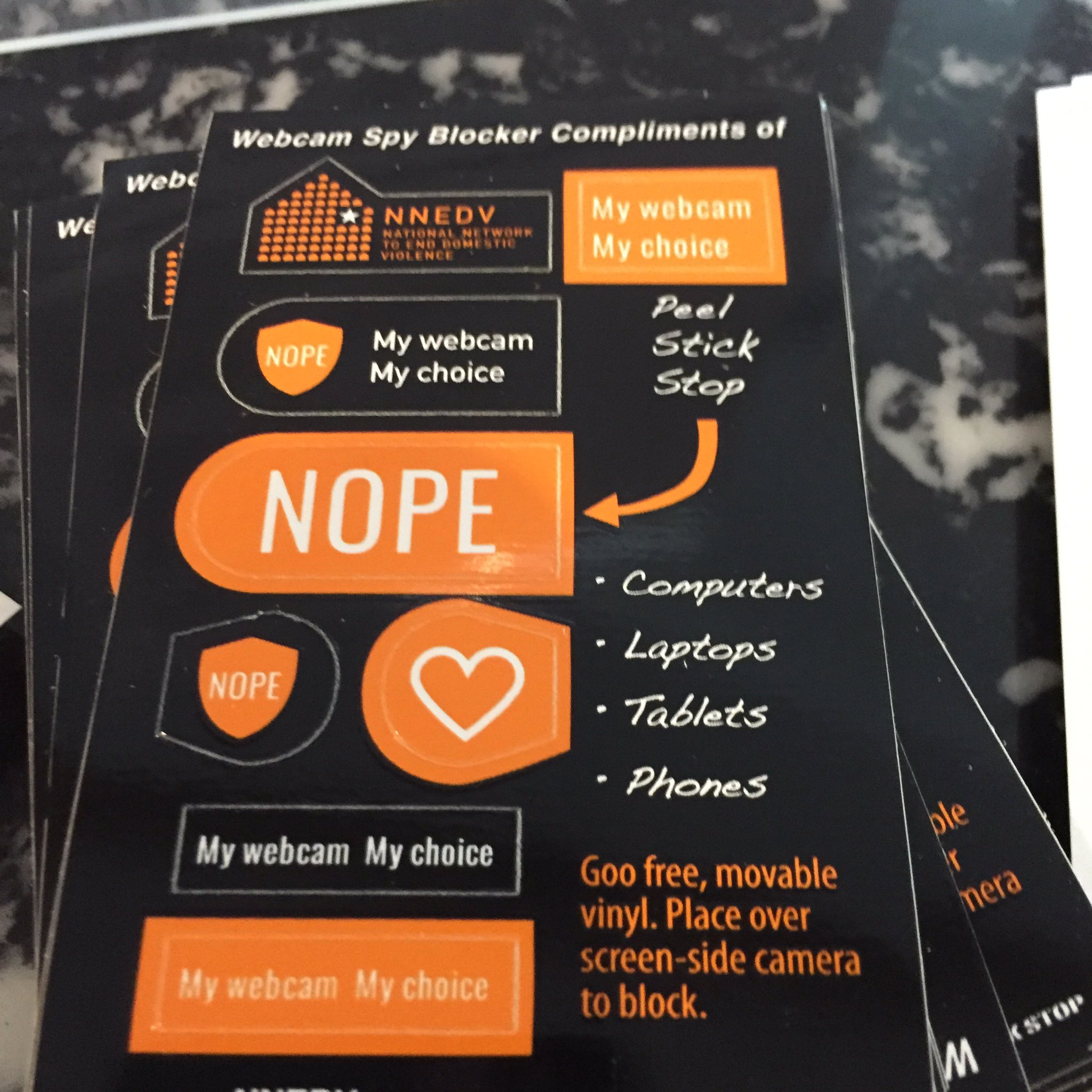 Launching our new webcam covers at #techsummit17 #TechSafetyMeans my webcam my choice #nope https://t.co/MIr7fpVomz