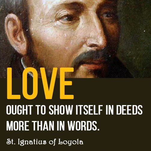 One of my favorite quotes, in honor of the Feast Day of St. Ignatius of Loyola! https://t.co/2w2FzHgJdH