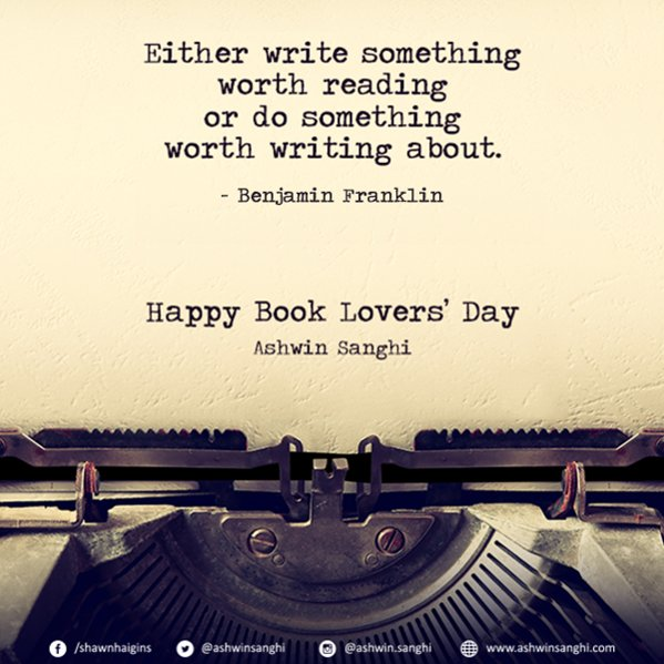 Happy book lovers' day to all. Happy writing and reading! #BookLoversDay https://t.co/Ym3I3rOtTm