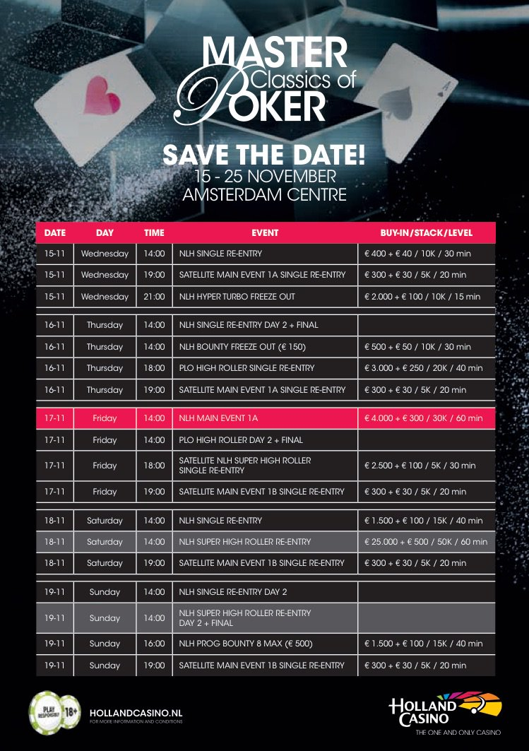 Mcop Amsterdam On Twitter Schedule For 26th Mcop Master
