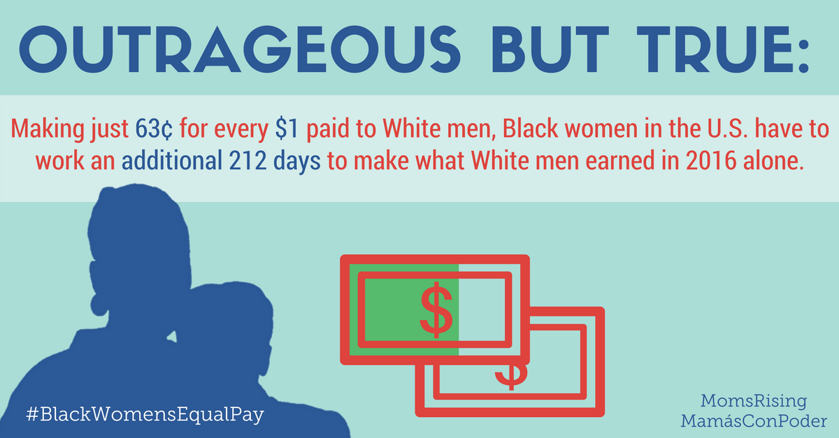 FACT: women of color are hit hardest by the #wagegap. TODAY is #BlackWomensEqualPay Day – Join us for a tweetstorm at 2pmET!