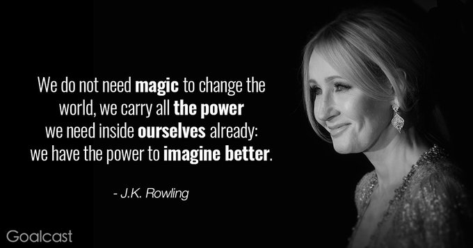 Happy Birthday to British author, J.K. Rowling (1965).