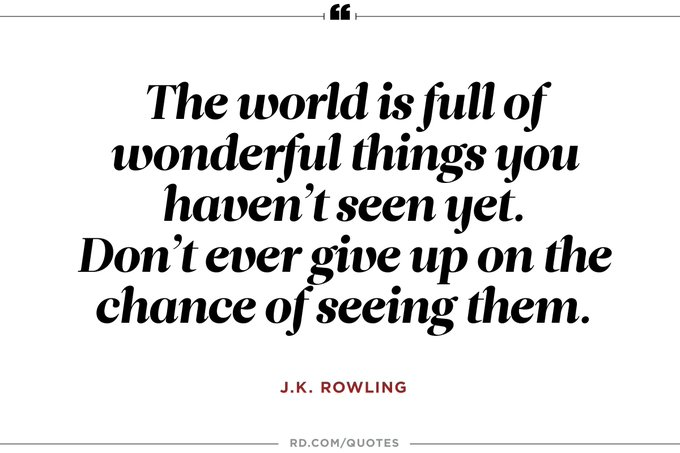 Happy Birthday Joanne (J.K.) Rowling!  Thanks for helping us believe in magic again...