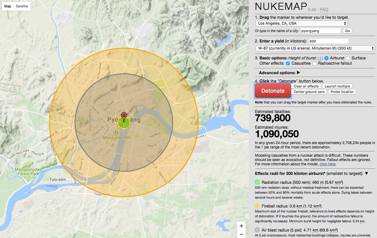 John Robb On Twitter Nukemap A Tool That Lets You Calculate The - Us-nuke-map