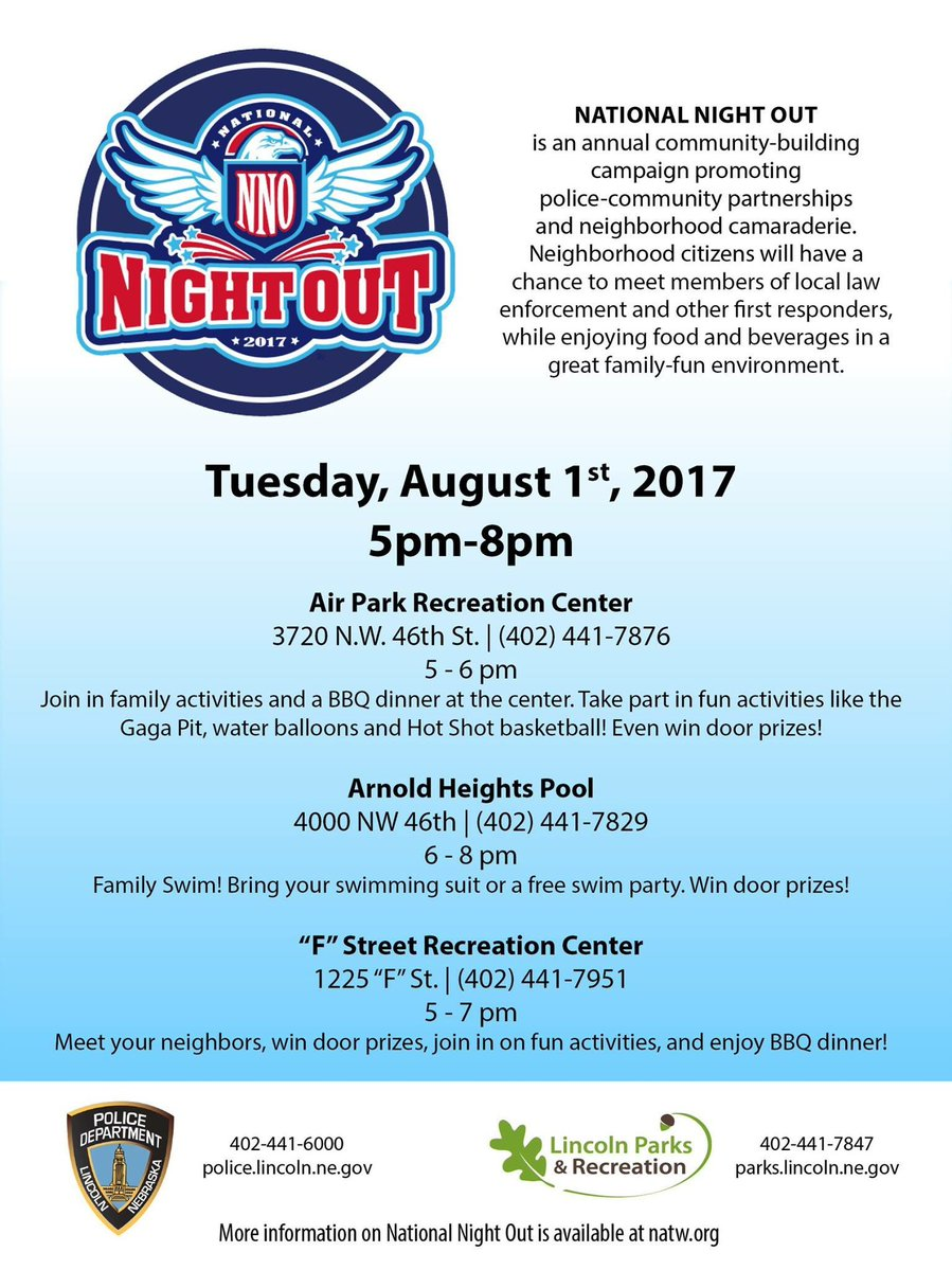 Lincoln Police On Twitter Tomorrow Is Nationalnightout The Sw
