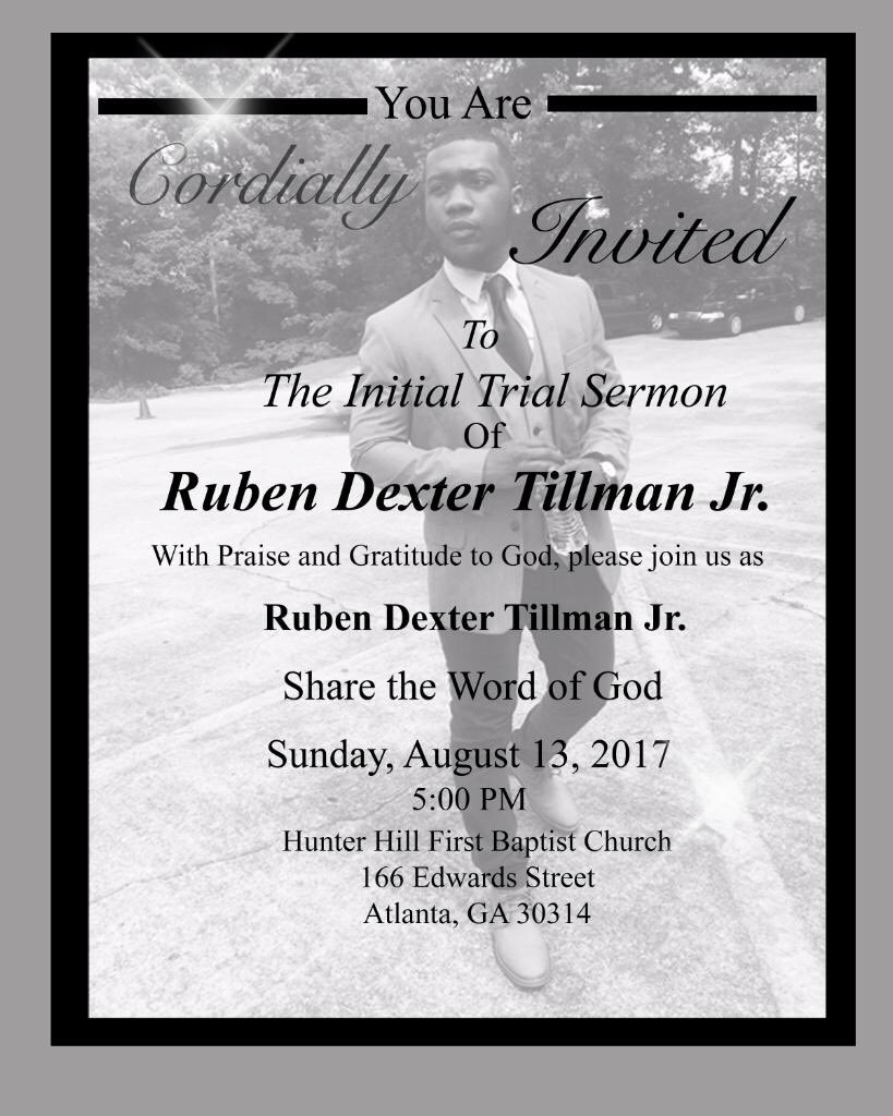 Ruben Tillman Jr on Twitter All are invited