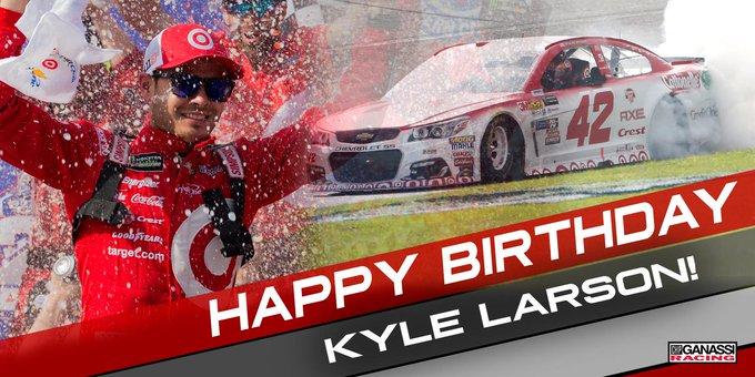 Happy birthday to Kyle Larson