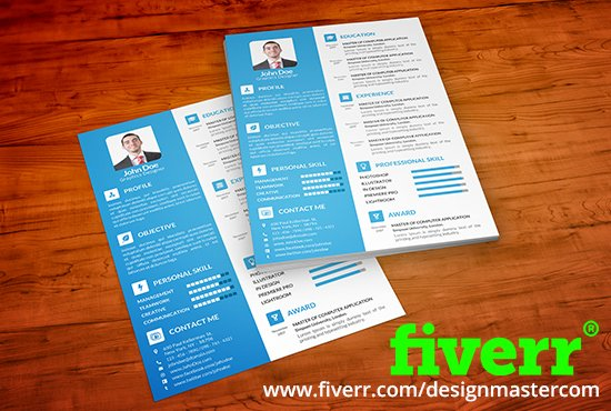 designmastercom on twitter clean attractive resume cv design for 5 on fiverr check it out httpstco3wqga1qbnd fiverrgigs resumetips job cv