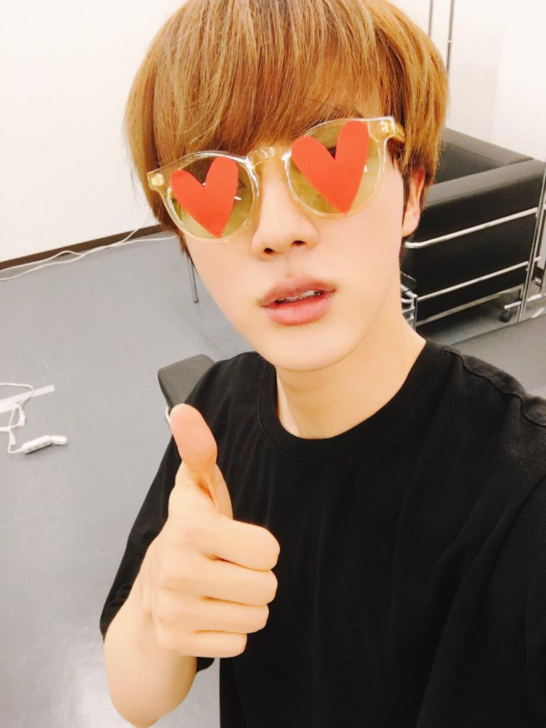 @BTS_twt #HeartsForJinDay #ARMYSelcaDay We love Kim Seokjin Armys all over the world want You to know Be happy Eat a lot Make eatjins 💜