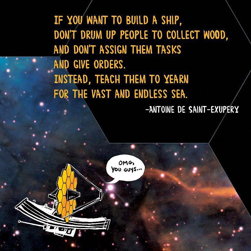 Going to visit the #JWST and becoming connected to that project in my small way with my comic fills me up with nothing but peace and hope. … https://t.co/YkRcy5TOCW