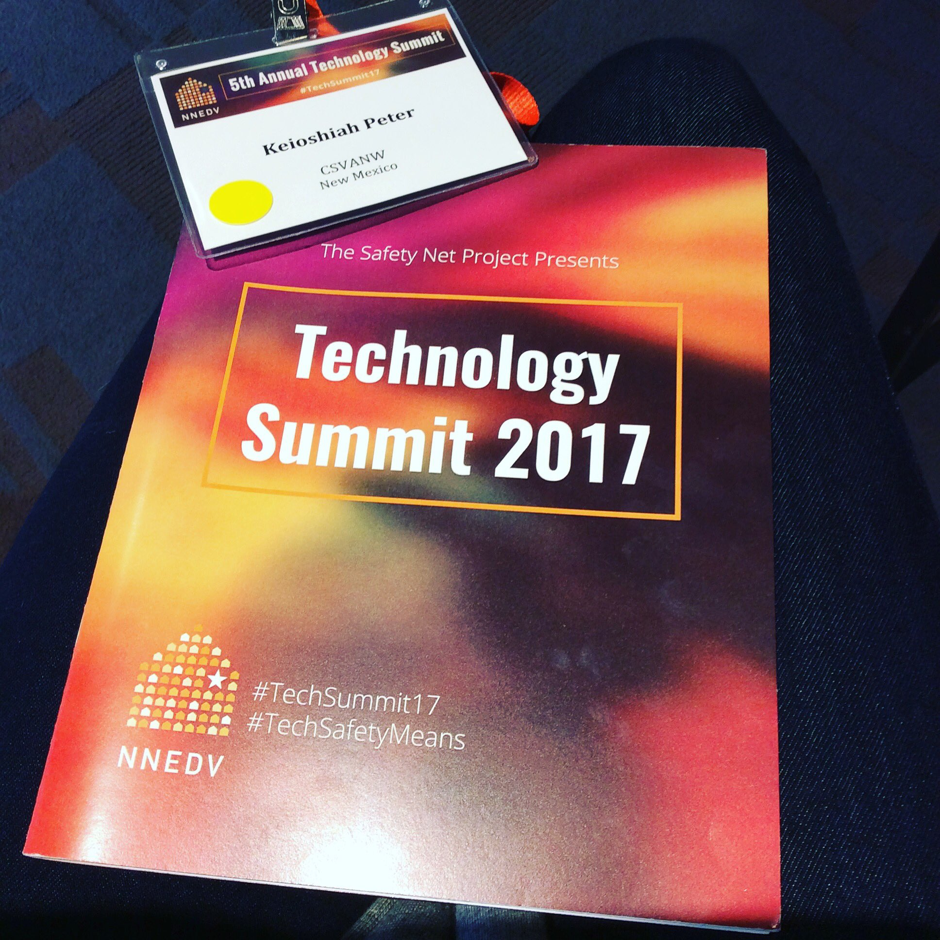 Our Native Youth Coordinator, Keioshiah, is at the #TechSummit17 in San Francisco, CA! #CSVANW #CSVANWYouth https://t.co/dCcuADkJtA