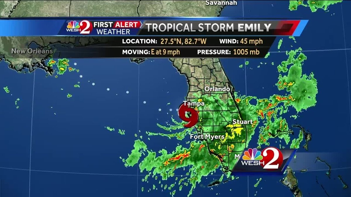 Tracking Tropical Storm Emily https://t.co/9AbmMnqQfi