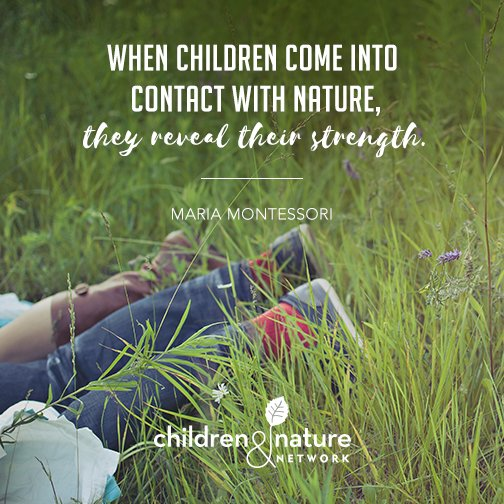 When children come into contact with #nature, they reveal their strength- Maria Montessori https://t.co/ryC7bxMjJy