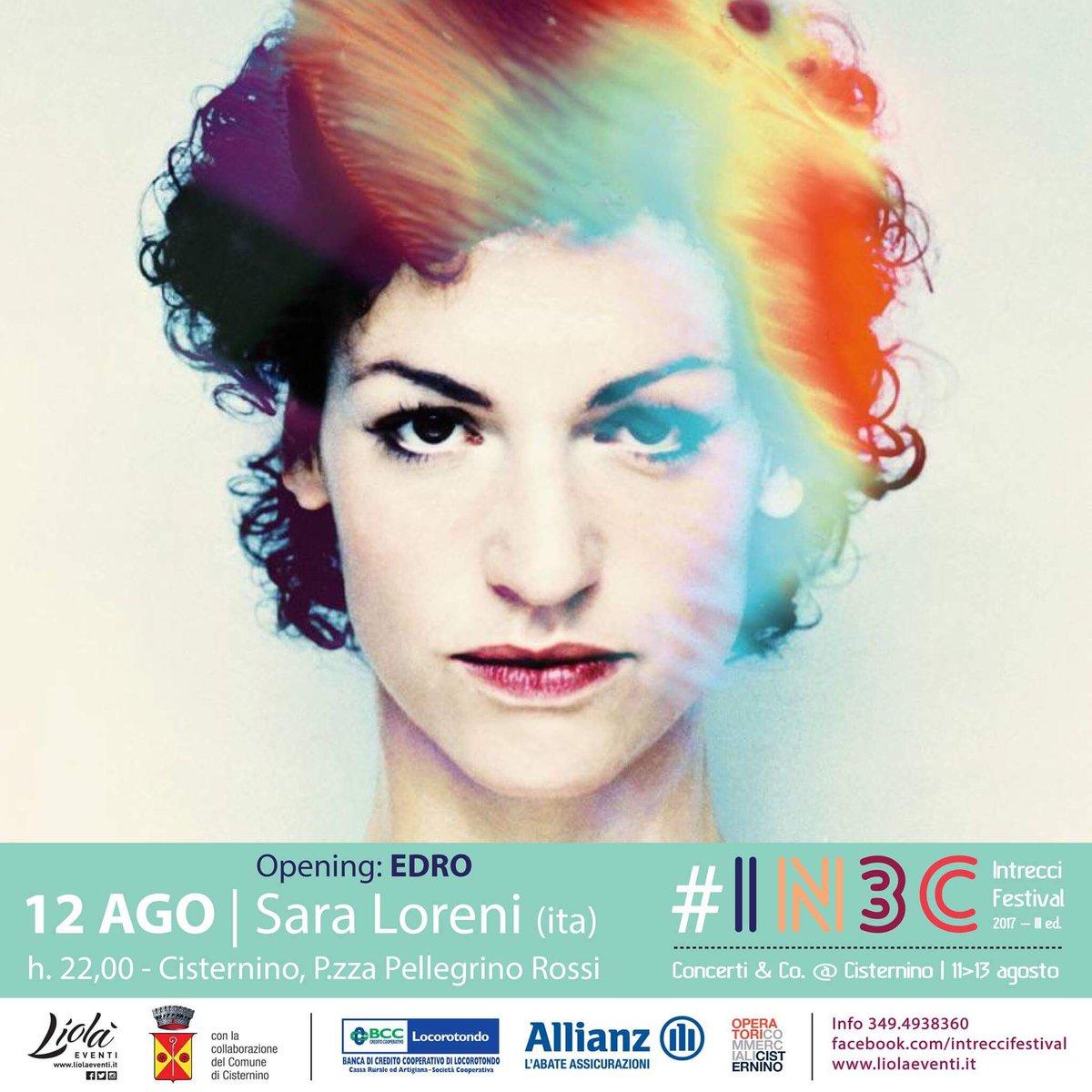 #IN3C #IntrecciFestival #12agosto #Cisternino #SaraLoreni #LiolaEventi #livemusic #valleditria #Puglia https://t.co/2uBrlp8mKS