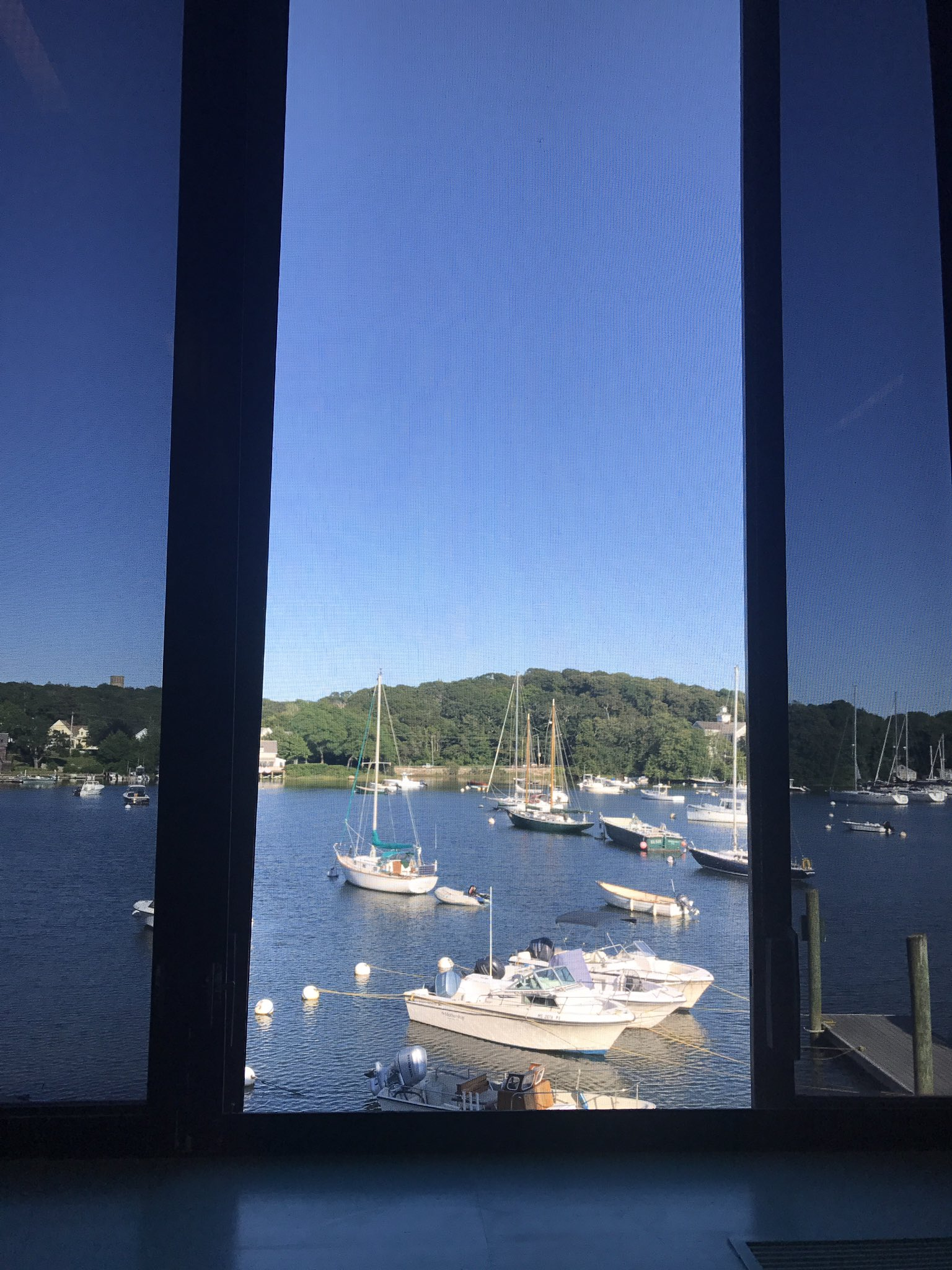 View from my table at breakfast. #STAMPS2017 #WoodsHole https://t.co/nn6h5nCAvg