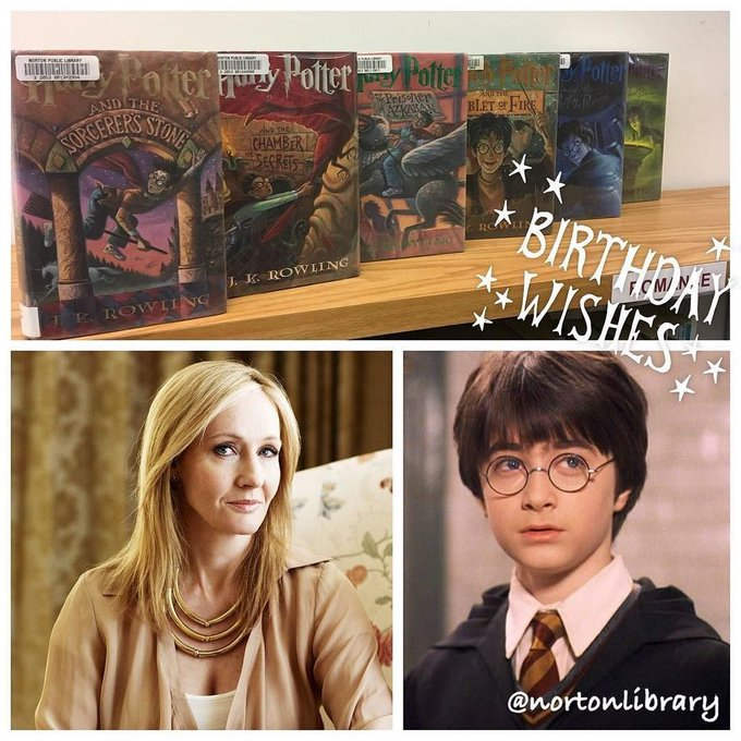 Happy Birthday J.K. Rowling and Harry Potter!!