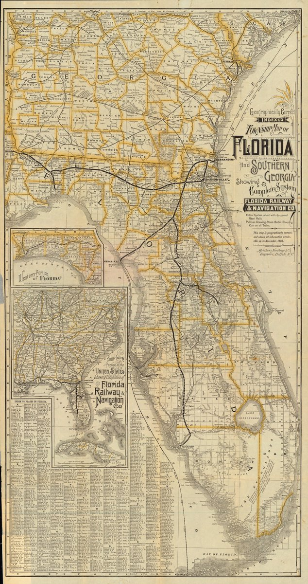 Florida Railroad Map.Florida Memory On Twitter Florida Railroad Navigation Company