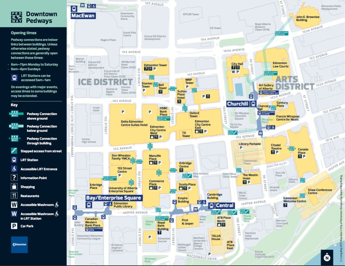 Edmonton Pedway Map DBA Edmonton on Twitter: