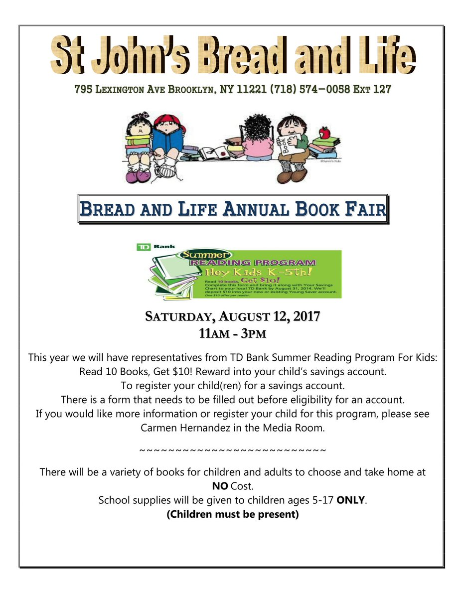 bread life on twitter join us for our annual book fair on august