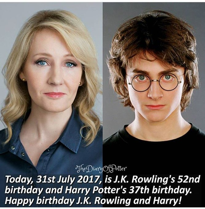 Happy birthday Harry And J.K. Rowling!