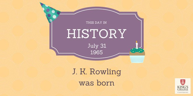 Happy Birthday to our favorite muggle/wizard team - J.K. Rowling and Harry Potter!