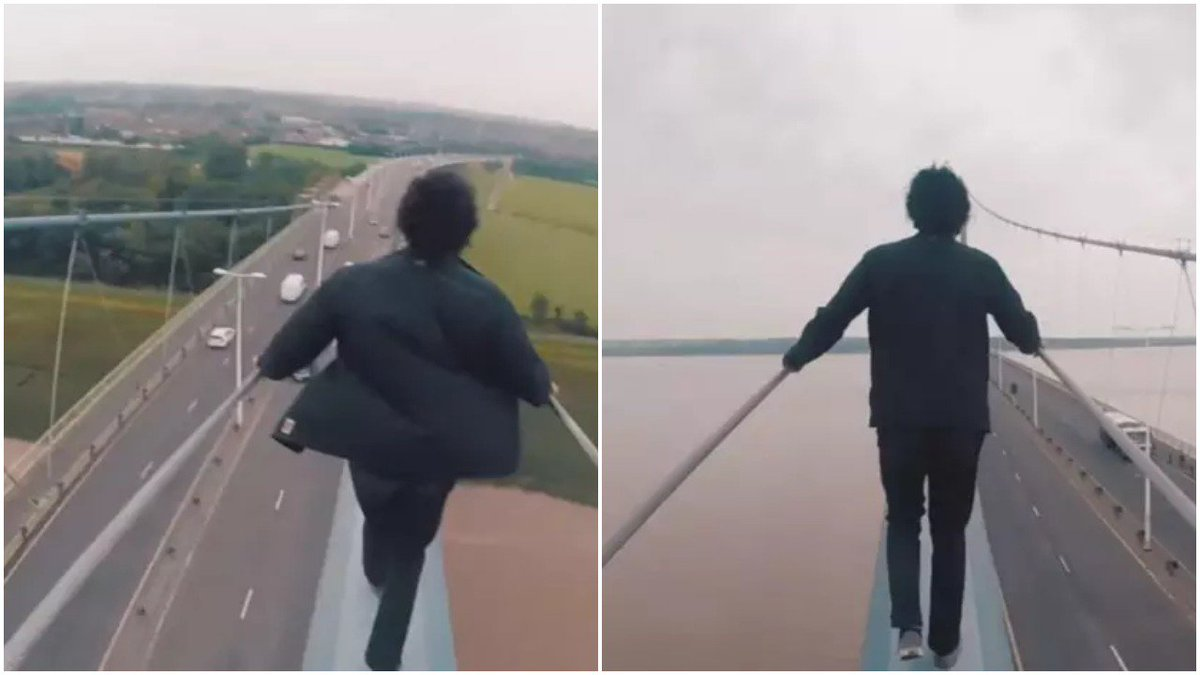 VIDEO: Two young men face prosecution after filming themselves scaling death-defying heights on the Humber Bridge: https://t.co/CbaMvt7V8g