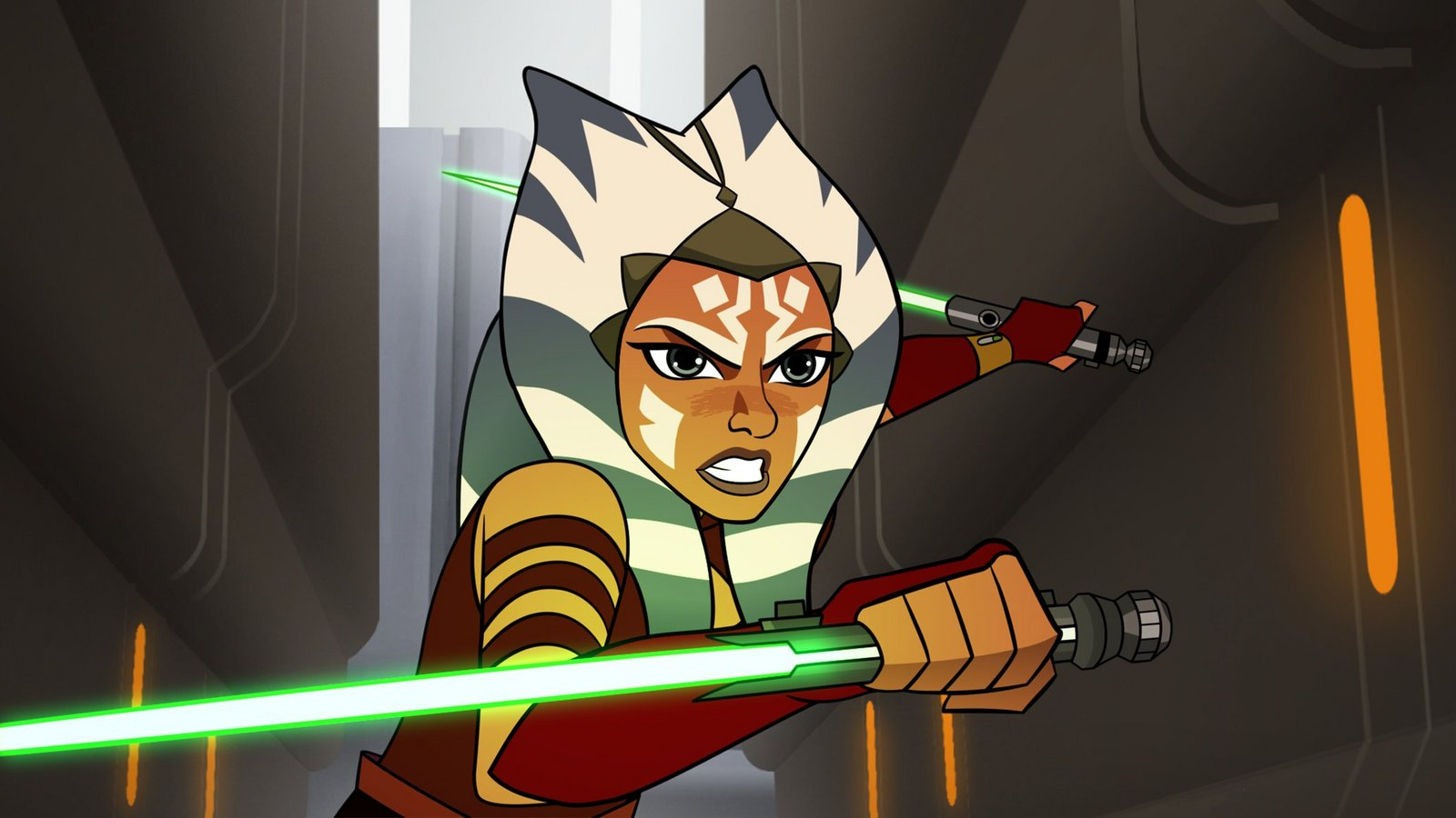 "Ahsoka battles a malfunctioning droid in Star Wars #ForcesOfDestiny: ""The Padawan Path."" https://t.co/4LuyU3qJVc"