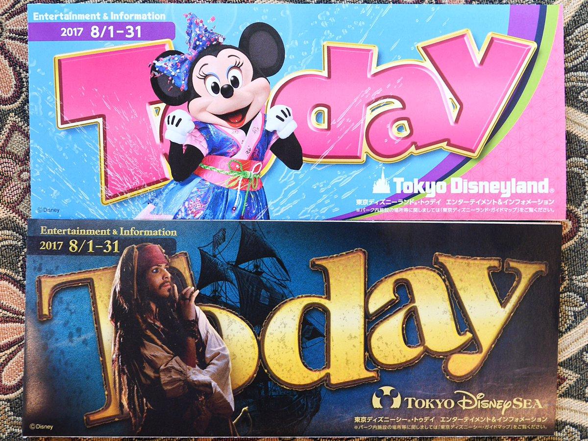 8月1日から8月31日までのToday ディズニーランドはミニー ディズニーシーはジャック・スパロウ dlove.jp/mezzomiki/tdl/…