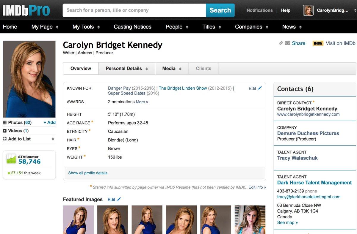 bridget linden on twitter updates to carolynbkennedy imdb