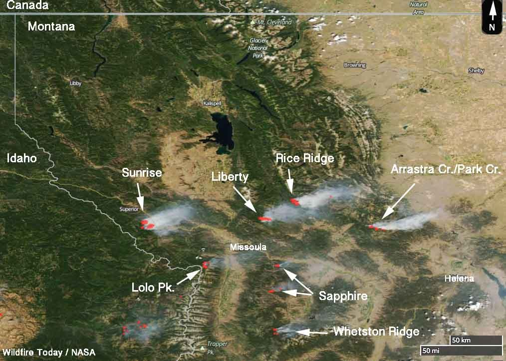 Montana Wild Fire Map.Wildfire Today On Twitter Wildfires In Western Montana As Seen