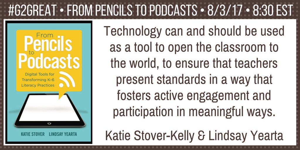 Words of Wisdom @ktkelly14 & @LYearta @brennanamy @DrMaryHoward Ts are innovators who find ways to bring  the 21st Century in! #G2Great https://t.co/INww24CdYR