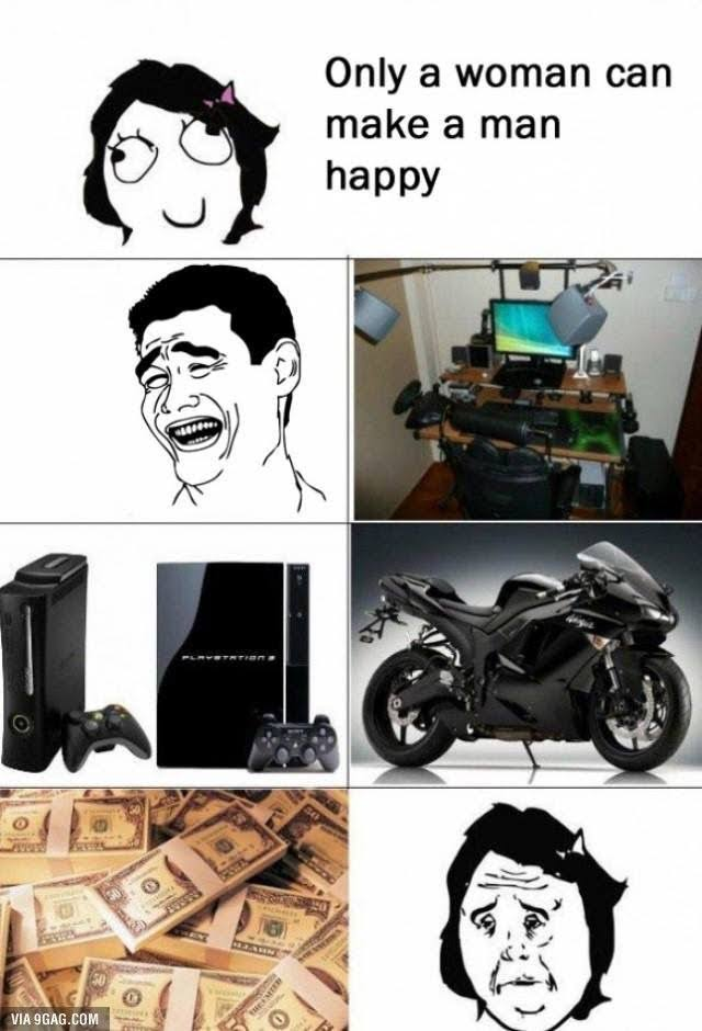 what makes a man happy