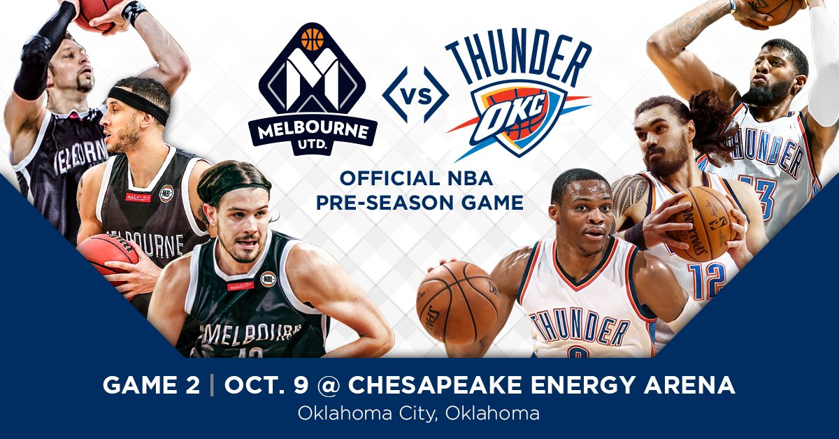 This is happening!   Melbourne United are set to take on Oklahoma City Thunder this October https://t.co/uEvi8qelgF