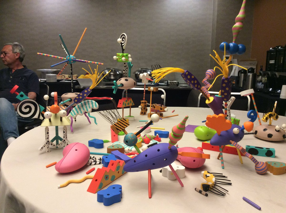 "Elisa Beshero-Bondar on Twitter: ""#balisage some strange creatures we built at this conference:"