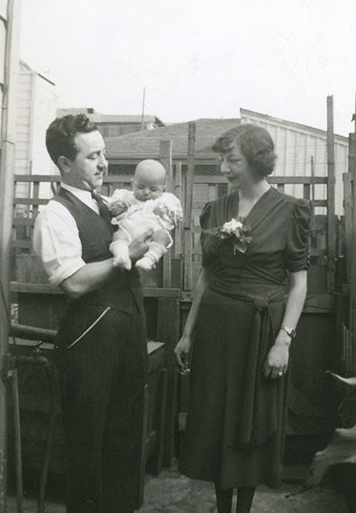 Baby Jerry Garcia with Joe and Ruth Garcia, circa 1942. Happy Jerry\s birthday eve!