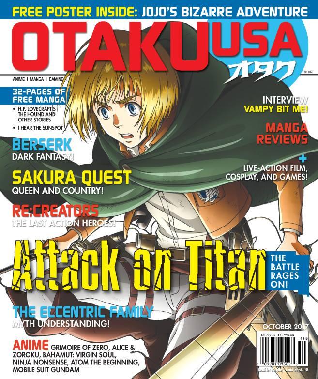 Armin Featured On The Cover Of Otaku USA Magazine Volume 11