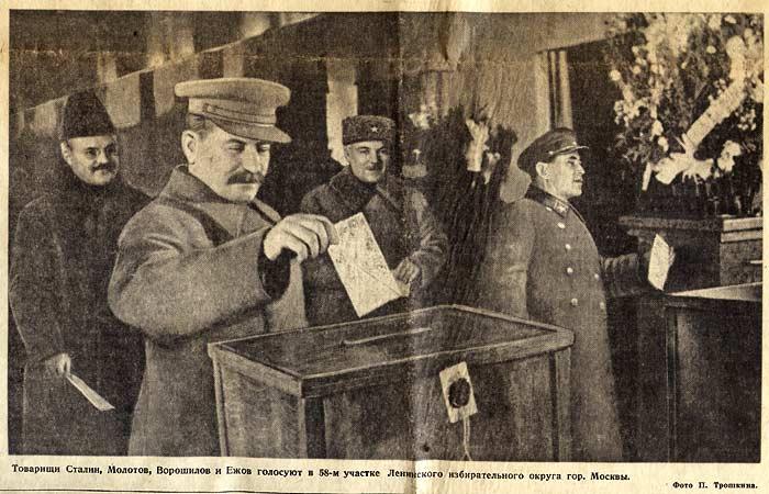 Imagini pentru stalin votando