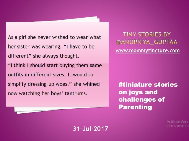 @gayatri_gadre @Ishieta @misra_amrita @foodietweeter @sujitrukhsat @Mayuri6 @nehatambe @twinklingtina @gleefulblogger @NatsCosmicrain This #tiniature is for 31st July #tinystory #momlife  Feeling exhilarated at being able to fulfill this challenge https://t.co/o6ImReHSmX