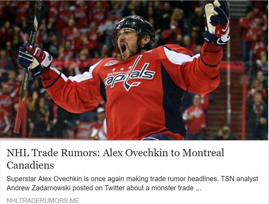 NHL Trade Rumors on Twitter: