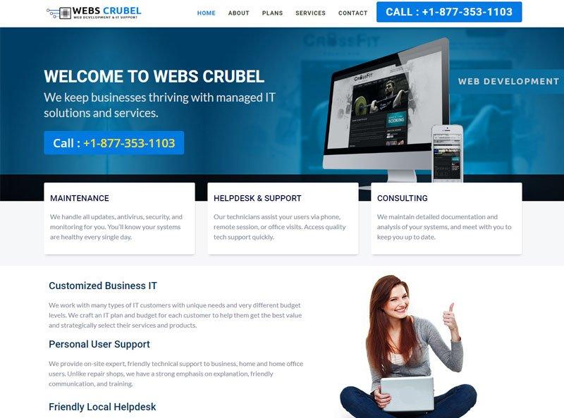 #Webs_Crubel #IT_Support &amp; #Web_Development Website :  http://www. webscrubel.com / &nbsp;   See More Portfolio at :  http:// brutecorp.com/portfolio  &nbsp;   #Brutecorp<br>http://pic.twitter.com/5QmLrNEHy9