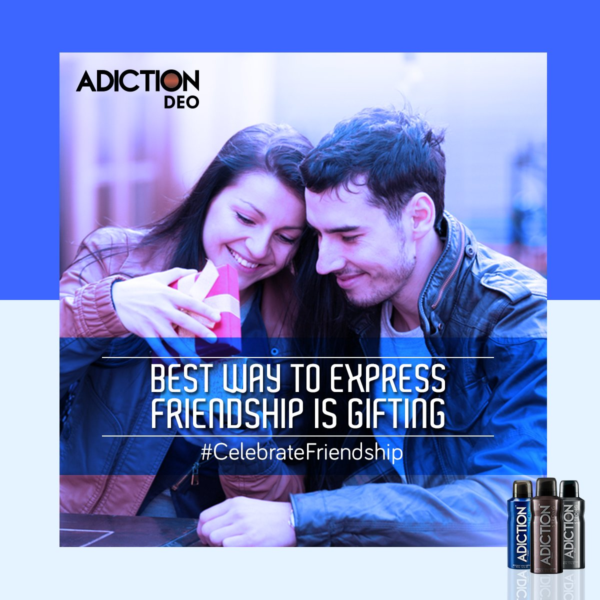 Celebrate Friendship Day with Adiction Deodorant. #CelebrateFriendhsip #Adiction #SmellStrong https://t.co/NOios4R4IA