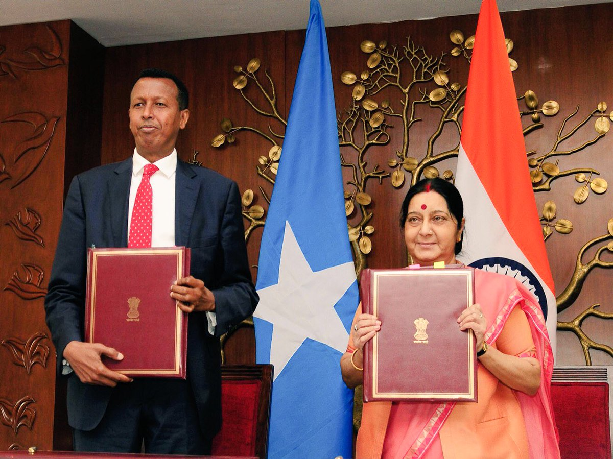 India, Somali sign agreement on transfer of sentenced persons