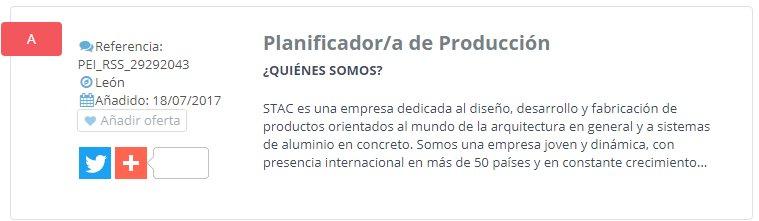 NUEVA OFERTA DE EMPLEO: Planificador/a de Producción --> https://t.co/Ua1OMX6qAO https://t.co/cRPs0gdiry