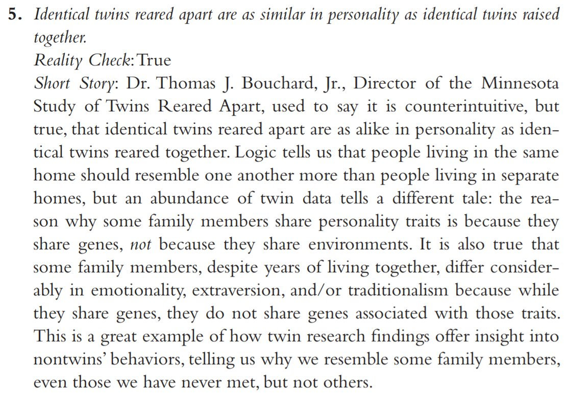 an analysis of identical twins differences and similarities being reared apart An analysis of the minnesota study of twins reared apart similarities that twins unaware of the difference between identical and.