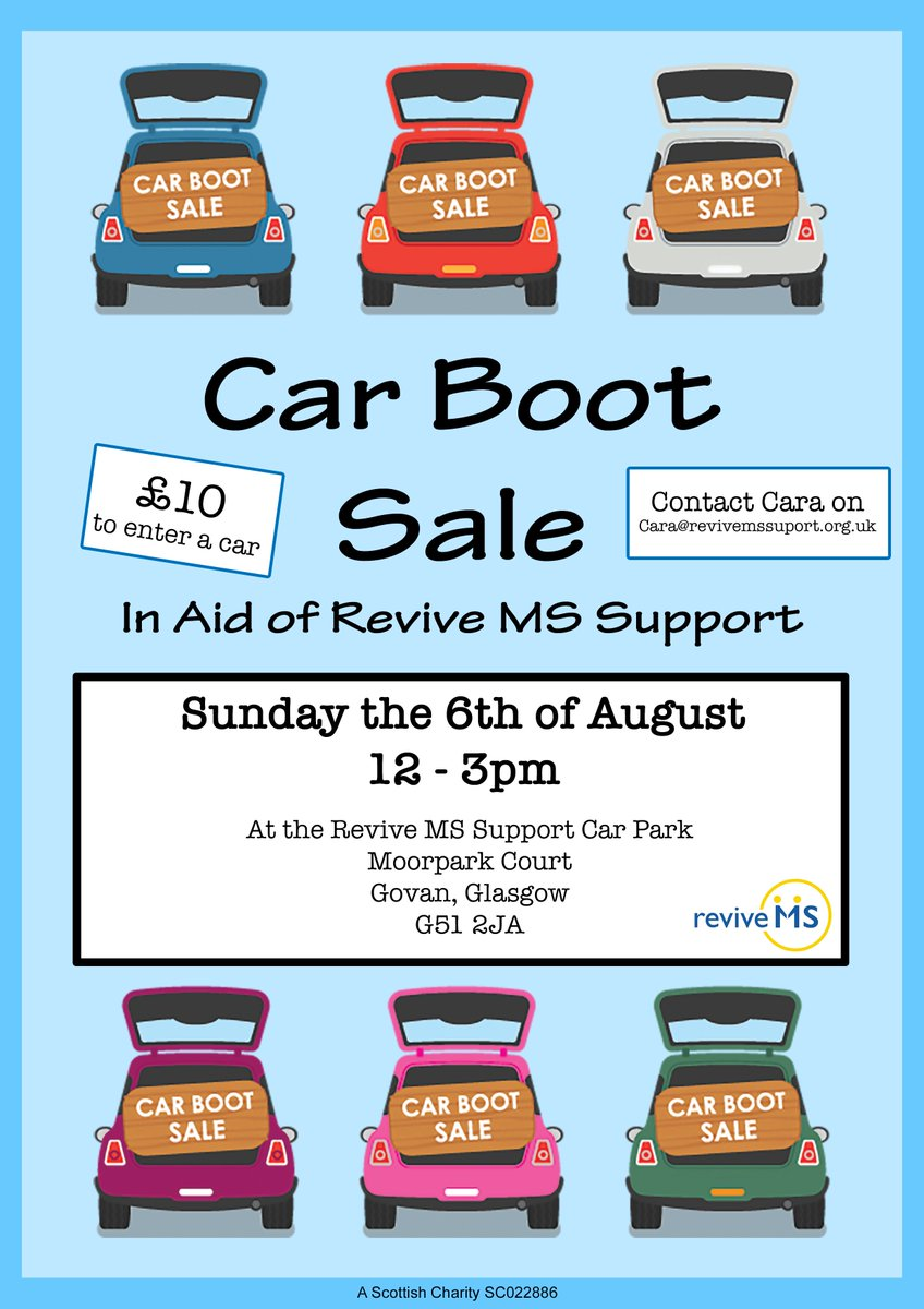 Revive Ms Support On Twitter Car Boot Sale At Revive On Sunday 6