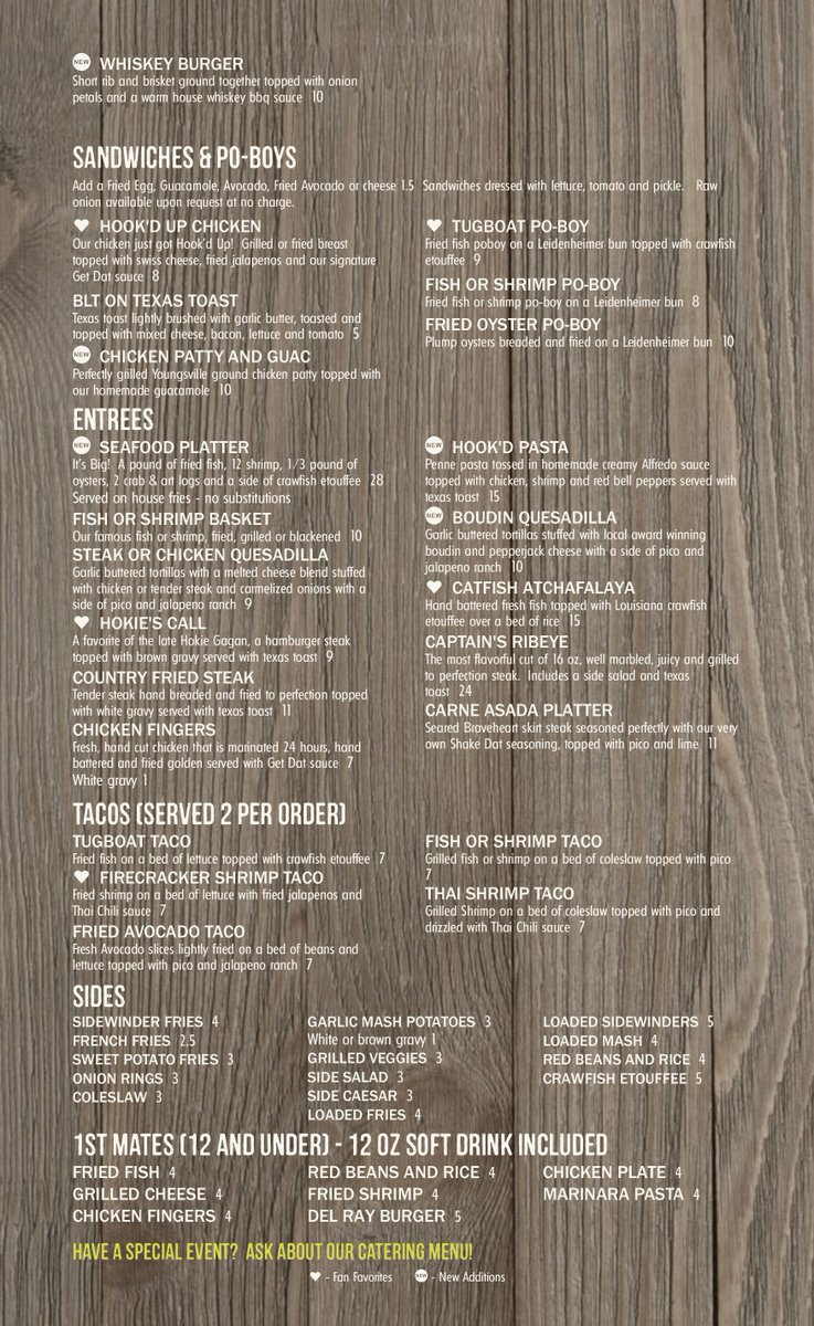 hook up youngsville la menu