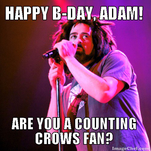 Happy birthday wishes to Adam Duritz of Pic from PR Photos.