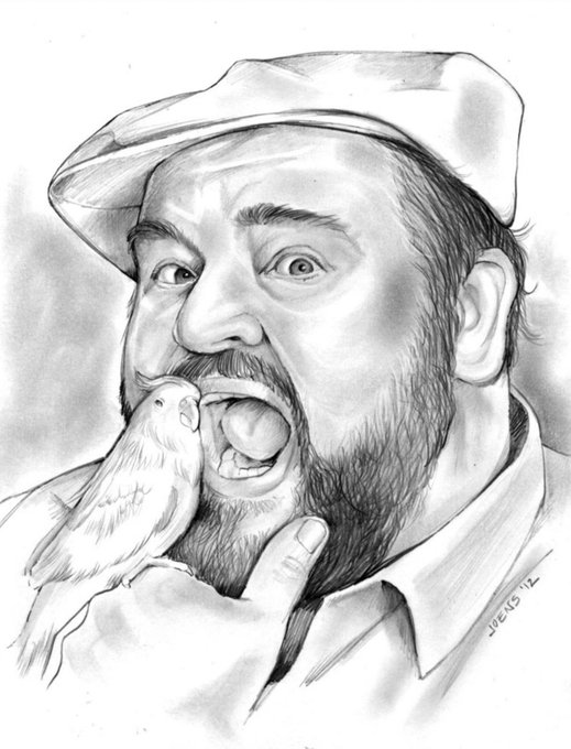 Happy Birthday, Dom Deluise.  Born on August 1, 1933  Pencil Sketch of the Day for Tuesday, August 1, 2017.