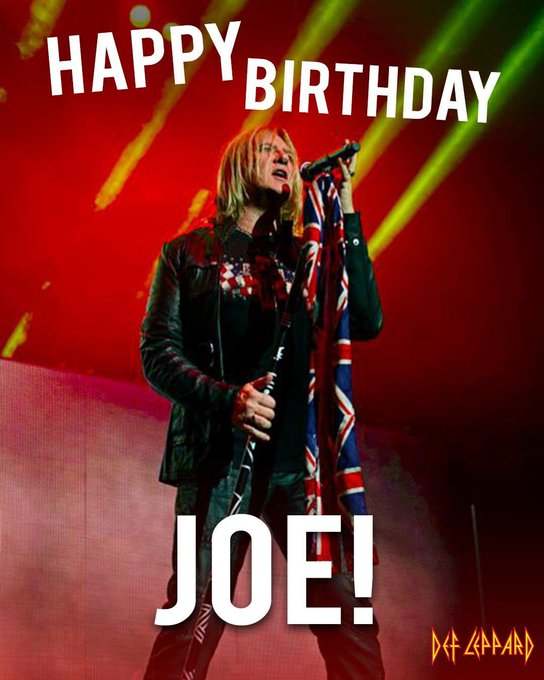 Wishing a very happy birthday today to our frontman Joe Elliott! Cheers!
