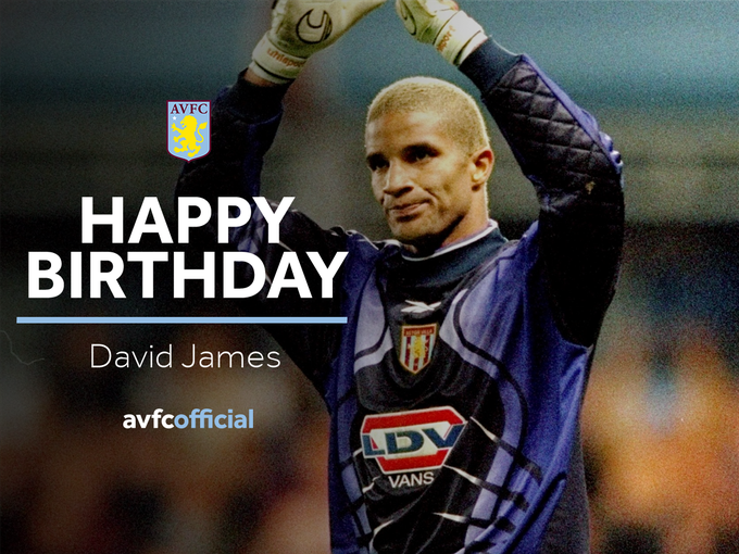 Happy birthday to the one and only David James  PC: Aston Villa